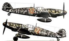 Bf-109 G-6/R6 Red 12.floun by Fw. Horst John of 2./300,Bonn-Hangelar. Septeber 1943.