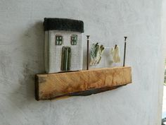 small house with a green roof poetic decoration by BLUSTUDIOshop