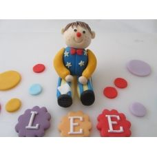 Mr tumble with name plaques and coloured dots edible birthday cake topper figure Edible Cake Toppers, Birthday Cake Toppers, Cake Birthday, Character Cakes, Kid Character, Mr Tumble, Name Plaques, Cakes And More, Christening