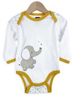 Body bébé garçon - Éléphant et lion x2 0368e7d56ab