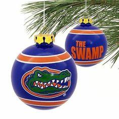 Florida Gators Slogan Glass Ball Ornament Royal Blue | eBay