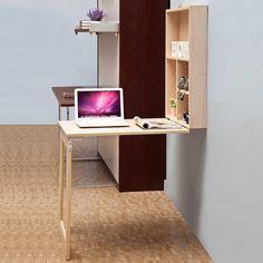 7 Beautiful Home Desk Ideas Make Comfortable (for Cozy Study) – Home Office Design Corner Apartment Interior Design, Home Office Design, Diy Furniture Projects, Home Furniture, Alcove Desk, Fold Away Desk, Cool Office Space, Office Spaces, Appartement Design