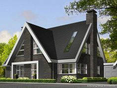 Home Design Idea 2017 - Best Free Home Design Idea & Inspiration Modern Bungalow House, Modern House Plans, Beautiful Home Designs, Beautiful Homes, Building Design, Building A House, Victoria House, Thatched House, American Houses