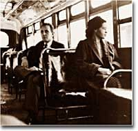 Rosa Parks went to prison because she refused to give up her seat on a bus to a white man. She willingly went to prison to try and prove a point that she had really done nothing wrong because they should be considered equal.