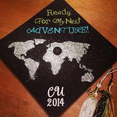 1 week until graduation, grad cap decorated. #graduation #2014