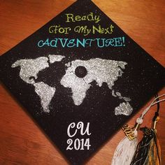 1 week until graduation, grad cap decorated. #graduation #2014