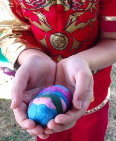 Felting Dragon Eggs at Herstmonceux Medieval Festival