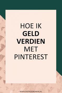 Wist je dat je met Pinterest geld kunt verdienen? In dit artikel leg ik tot in detail uit hoe ik geld verdien op Pinterest en hoe jij hetzelfde voor elkaar kunt krijgen.