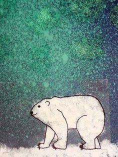 Winter Art Lesson   Winter Art Lesson Ideas - chalk print northern lights