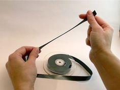 This site has quite a few crafts to make out of VHS tapes and the film inside.