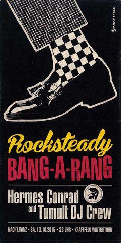 ROCKSTEADY BANG-A-RANG - KRAFTFELD WINTERTHUR SCHWEIZ - ORIG. FLYER