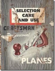SCAN0258a Stanley Plane, Sears Craftsman, Vintage Tools, In Writing