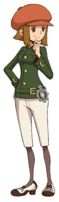 Lucy Crelia, a character from the upcoming Professor Layton game, Layton Brothers Mystery Room.
