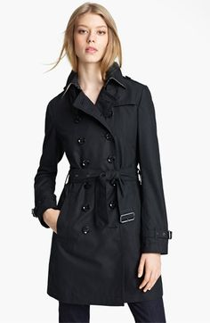 Burberry Brit 'Crombrook' Trench Coat available at #Nordstrom - I need a new coat...and this one's on sale! #agirlcandream