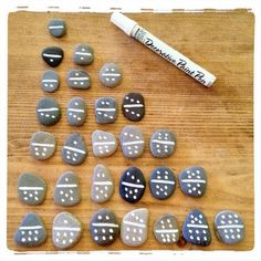 Great List Of Homemade Gifts. Fun DIY Domino Set. Pebbles and paint...that's all you need!