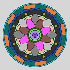 Mandala Colour, Coloring Apps, Mandala Coloring, Zentangle, Kids Rugs, Home Decor, Mosaics, Mandalas, Decoration Home