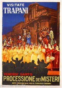 Vintage 1950 Trapani Sicily Italian Italy Travel Poster Re-Print Vintage Italian Posters, Poster Vintage, Vintage Travel Posters, Vintage Art, Vintage Stuff, Poster Pictures, Print Pictures, Trapani Sicily, Sicily Italy