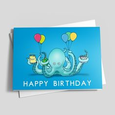 Awesome Octopus Birthday Birthday by CardsDirect