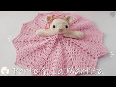 In this video you will learn how to crochet this adorable bunny blankie/lovie. It is so soft and cuddly it is sure to become one of your babies favorite item. Crochet Doily Rug, Crochet Lovey, Crochet Gifts, Baby Blanket Crochet, Crochet Dolls, Crochet Stitches, Crochet Patterns, Quilt Baby, Granny Stripes