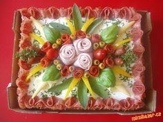 Sandwich Torte, Food Decoration, Food Art, Buffet, Sandwiches, Recipes, Savory Muffins, Savory Snacks, Food Platters