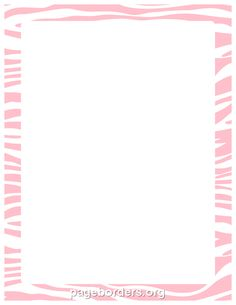 Printable pink zebra print border. Use the border in Microsoft Word or other programs for creating flyers, invitations, and other printables. Free GIF, JPG, PDF, and PNG downloads at http://pageborders.org/download/pink-zebra-print-border/