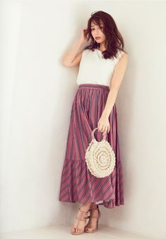 Waist Skirt, High Waisted Skirt, Indian Gowns, Fashion Outfits, Skirts, Clothes, Vintage, Casual Summer, Japanese
