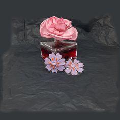 Pink Rose Flower, Purple Flowers, Silver Accessories, Flower Earrings, Best Gifts, Etsy Seller, Etsy Shop, Gift Ideas, Friends