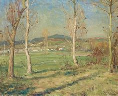 A.Y. Jackson - October Morning Episy 21.5 x 25.5 Oil on canvas (1909) Oil On Canvas, Jackson, October, Painting, Art, Art Background, Painting Art, Kunst, Paintings