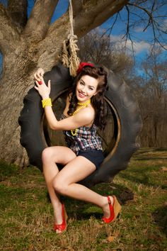 Pin Up on a tire swing--- Love! :: Modern Day Pin Up Girls:: Pin Up Girls