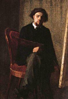Henri Fantin-Latour (1936-1904) • Self-Portrait, 1858