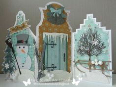 Dyi Christmas Cards, All Things Christmas, Holiday Cards, Christmas Crafts, 3d Cards, Pop Up Cards, Homemade Greeting Cards, Snowman Cards, Recycled Crafts