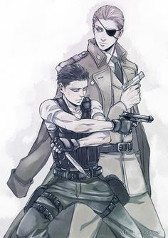 ...>>Is this Germany and Captain Levi? Thats what I thought when I saw this