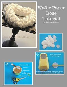 Wafer paper rose tutorial.