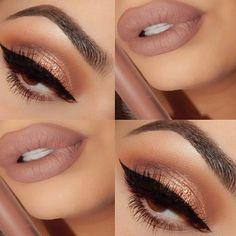 Bronzed Eyes & Nude Lips #beautyinthebag #nudes Makeup On Fleek, Makeup Goals, Beauty Makeup, Makeup Junkie, Makeup Addict, Makeup Lovers, Fashion Beauty, Skincare, Make Up