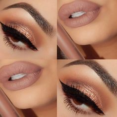 Bronzed Eyes & Nude Lips #beautyinthebag #nudes