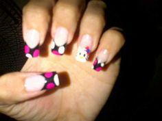 Hello Kitty Hello Kitty, Nails, Finger Nails, Ongles, Nail, Nail Manicure