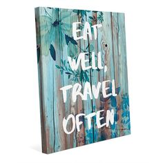 Horizon Eat Well, Travel Often Canvas Wall Art Print