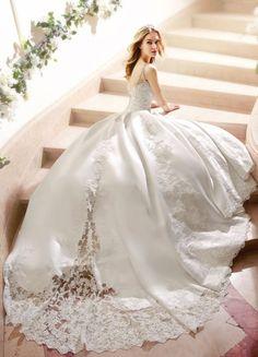Featured Dress: Moonlight Bridal; Wedding dress idea.