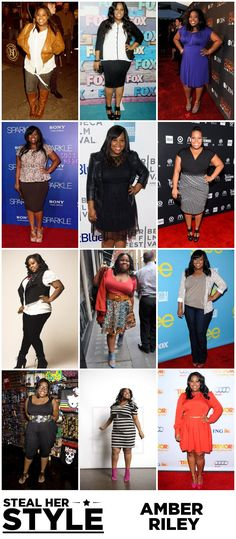 {Steal Her Style} Celebrity Curves | Amber Riley #plussize #curves