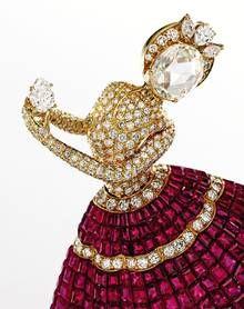 Jewellery Sales: Magnificent Jewels, Sotheby's New York - Telegraph, Van Cleef & Arpels ruby and diamond ballerina brooch.