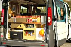 Travel van rear door kitchen unit for those tasty meals on the road.