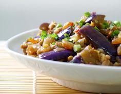 葱花蒜茸茄子 eggplant with scallion and minced garlic
