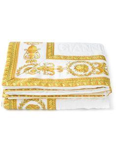 Versace Border Print Towel