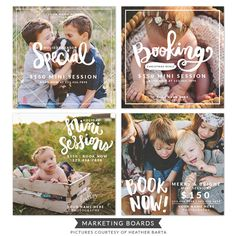 Photo Studio Ads design - Hand lettering PSD templates