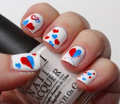 Marias Nail Art and Polish Blog: Quick Valtentine's day mani