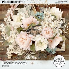 DitaB Designs:   Timeless blooms individual packs   full kit with...
