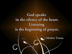 Going quietly within we listen and we receive a message