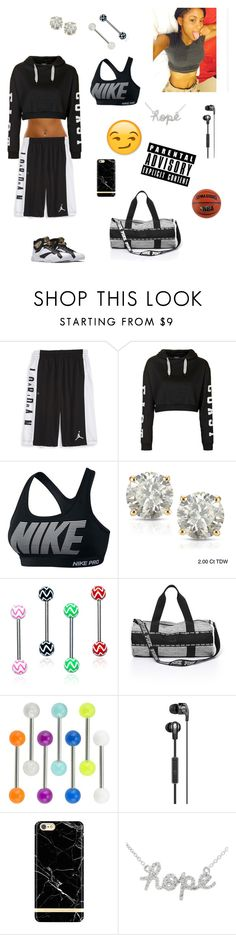 """feelings//April"" by lovebrezzy ❤ liked on Polyvore featuring NIKE, Topshop and Auriya"