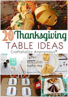 It is time to start planning the perfect Thanksgiving Table! Check out these Creative Thanksgiving Table Ideas to give your creativity a jump start! Thanksgiving Projects, Thanksgiving Traditions, Thanksgiving Parties, Thanksgiving Table, Thanksgiving Recipes, Thanksgiving Activities, Holiday Crafts, Holiday Fun, Holiday Ideas