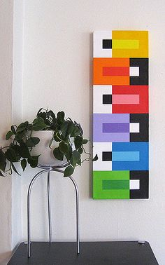 nice use of solids- cool using LEGO Abstract Geometric Art, Abstract Oil, Quilt Modernen, Diy Canvas Art, Acrylic Art, Modern Art, Art Projects, Art Drawings, Painting & Drawing